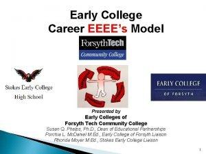 Early College Career EEEEs Model Presented by Early