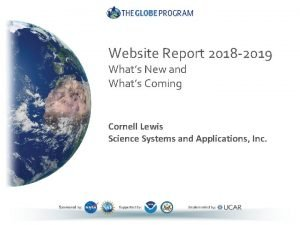 Website Report 2018 2019 Whats New and Whats