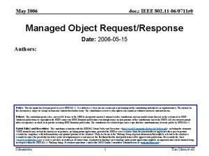 May 2006 doc IEEE 802 11 060711 r