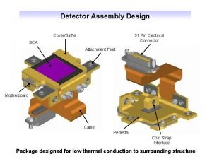 Detector Assembly Design CoverBaffle 51 Pin Electrical Connector