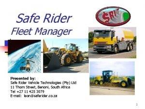 Safe Rider Fleet Manager Presented by Safe Rider