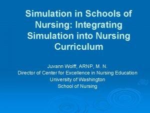 Simulation in Schools of Nursing Integrating Simulation into