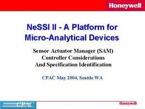 Ne SSI II A Platform for MicroAnalytical Devices
