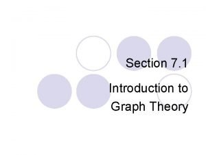 Section 7 1 Introduction to Graph Theory Euler