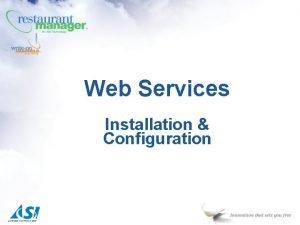 Web Services Installation Configuration StandAlone Web Services ECalendar