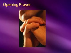 Opening Prayer Introduction Introduction LESSON 2 GOD TELLS