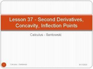 Lesson 37 Second Derivatives Concavity Inflection Points Calculus