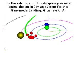 To the adaptive multibody gravity assists tours design