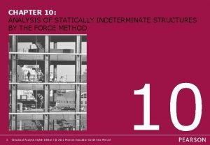 CHAPTER 10 ANALYSIS OF STATICALLY INDETERMINATE STRUCTURES BY