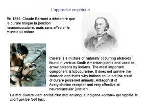 Lapproche empirique En 1856 Claude Bernard a dmontr