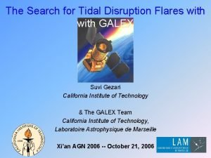The Search for Tidal Disruption Flares with GALEX
