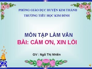 PHNG GIO DC HUYN KIM THNH TRNG TIU