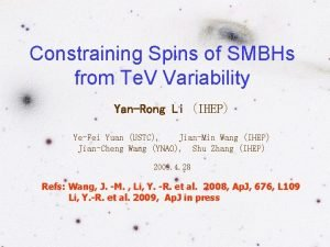 Constraining Spins of SMBHs from Te V Variability