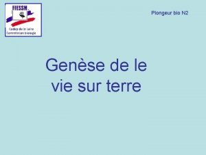 Plongeur bio N 2 Codep de la Loire