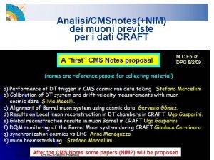 AnalisiCMSnotesNIM dei muoni previste per i dati CRAFT