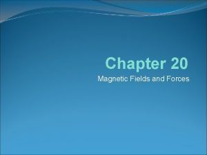 Chapter 20 Magnetic Fields and Forces Review Magnetic