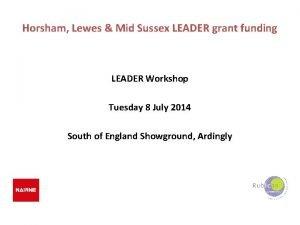 Horsham Lewes Mid Sussex LEADER grant funding LEADER