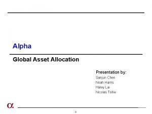 Alpha Global Asset Allocation Presentation by Sanjun Chen
