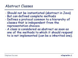 Abstract Classes Should not be instantiated abstract in