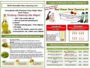 2 types of Marseille Olive Cleansing Oil NEW
