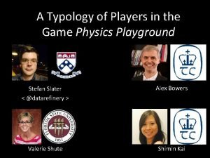 A Typology of Players in the Game Physics