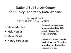 National Soil Survey Center Soil Survey Laboratory Data