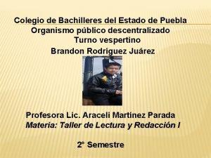 Colegio de Bachilleres del Estado de Puebla Organismo