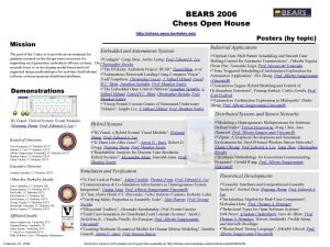 BEARS 2006 Chess Open House http chess eecs