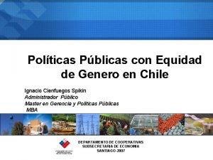 Polticas Pblicas con Equidad de Genero en Chile