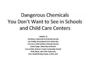 Dangerous Chemicals You Dont Want to See in