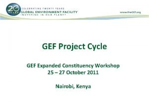 GEF Project Cycle GEF Expanded Constituency Workshop 25