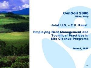 Con Soil 2008 Milan Italy Joint U S