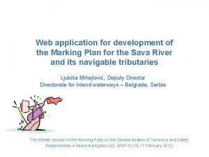 Web application for development of the Marking Plan