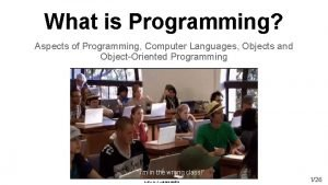What is Programming Aspects of Programming Computer Languages