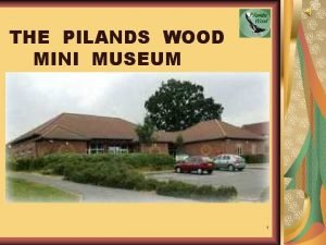 THE PILANDS WOOD MINI MUSEUM 1 Presented by