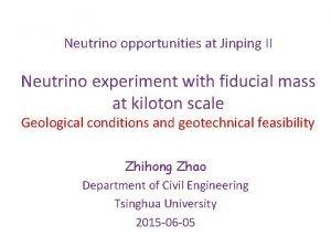 Neutrino opportunities at Jinping II Neutrino experiment with