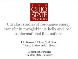 Ultrafast studies of resonance energy transfer in myoglobin