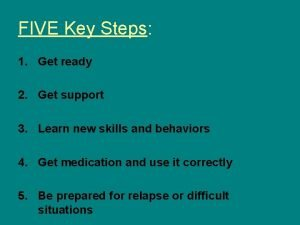 FIVE Key Steps 1 Get ready 2 Get