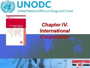 Chapter IV International Cooperation International Cooperation Mandatory Optional