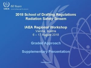 2018 School of Drafting Regulations Radiation Safety Stream