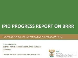 Strategic Plan 201217 and Annual Performance Plan 201213