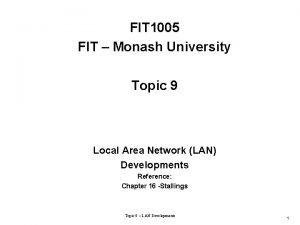 FIT 1005 FIT Monash University Topic 9 Local