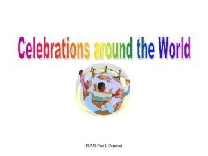 P 5U 3 Part I Carnival Carnival festivities