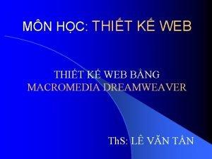 MN HC THIT K WEB BNG MACROMEDIA DREAMWEAVER