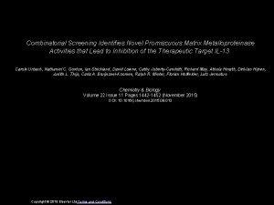 Combinatorial Screening Identifies Novel Promiscuous Matrix Metalloproteinase Activities