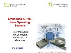 Universitt Dortmund technische universitt dortmund fakultt fr informatik
