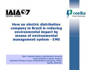 How an electric distribution company in Brazil is