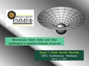 Microscopic black holes and their significance in quantum