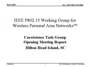 March 2001 doc IEEE 802 15 01108 r