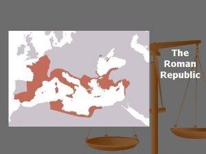 The Roman Republic Romes Government Main Idea Romes
